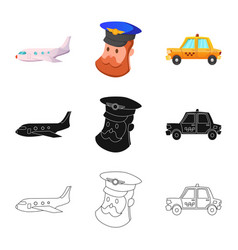 airport and airplane logo vector image