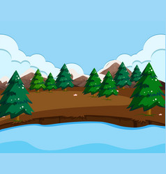 an outdoor nature scene vector image