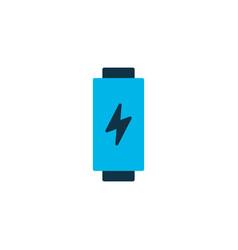 battery icon colored symbol premium quality vector image