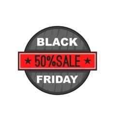 Black Friday 50 off icon cartoon style vector image