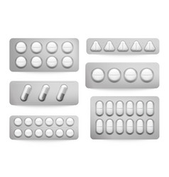 blister packs white paracetamol pills aspirin vector image