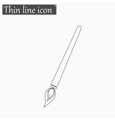 Brush icon Style thin line vector