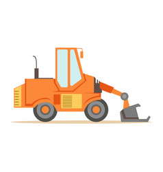bulldozer loader truck machine part of roadworks vector image