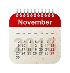 Calendar 2015 - november vector