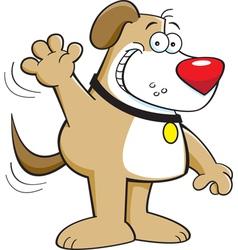 Cartoon Dog Waving vector image