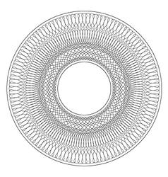 Circular Guilloche pattern rosette vector