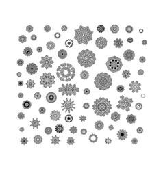 Circular monochrome pattern vector