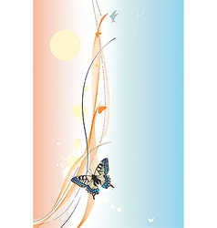 Colorful background with butterfly vector