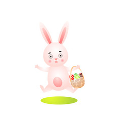 cute happy easter rabbit with colorful ornamental vector image