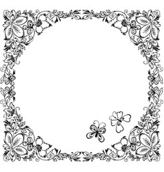 Decorative frame of fabulous leaves vector
