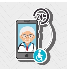 Doctor with isolated icon design vector