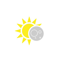 Eclipse solar icon in flat style vector