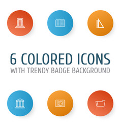 education icons set collection of measurement vector image