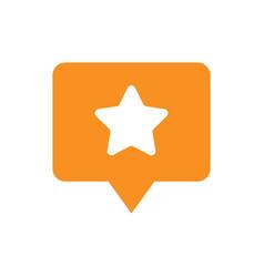 favorite places location pin symbol orange icon vector image