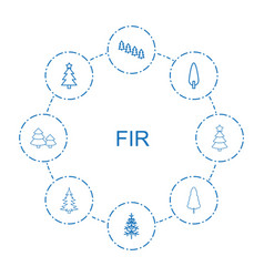 fir icons vector image