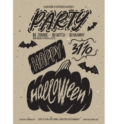 Halloween poster party vector