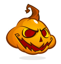 halloween pumpkin head isolated on white vector image