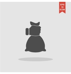 hand and bag icon vector image