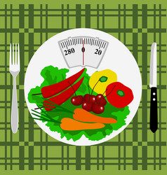 healthy lifestyle health caloriesthe weight vector image