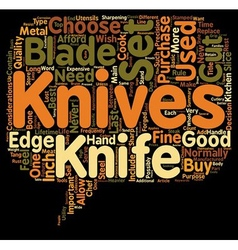 How to choose the best knife set text background vector