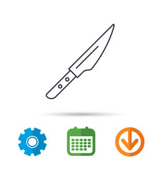 kitchen knife icon chef tool sign vector image