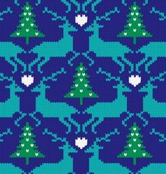 Knit nordic reindeer vector