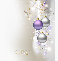 light Christmas background vector image