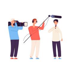 Live streamer news broadcaster journalist tv vector