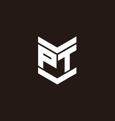 logo alphabet monogram with emblem style vector image