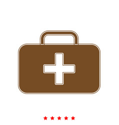 medical case it is icon vector image