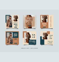 Minimalist social media post design template vector