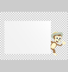 monkey paper transparent vector image