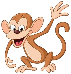 monkey waving vector image