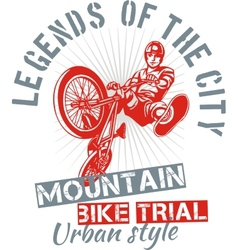 Mountain bike trial - design vector