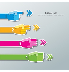 Paper hand number infographics vector