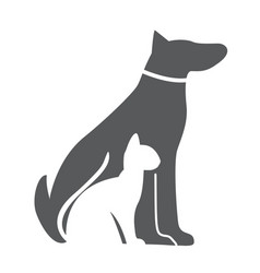 Pet dog and cat icon material for design vector