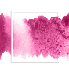Pink watercolor stain banner vector