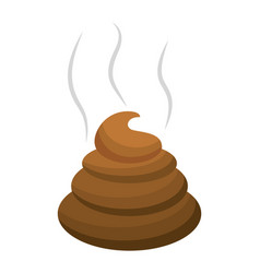 poop icon cartoon vector image