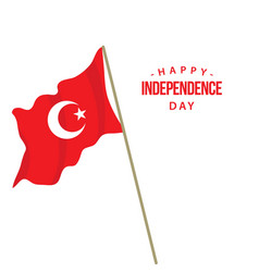 Printhappy turkey independence day template design vector