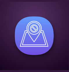 Protest location app icon vector