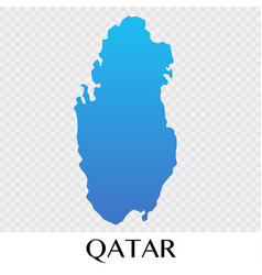 Qatar map in asia continent design vector