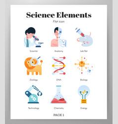 Science elements flat vector