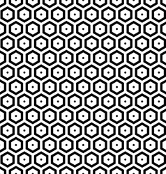 Seamless hexagons texture vector image