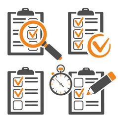 set education test checklist vector image