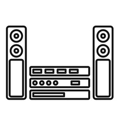 Sound system icon outline style vector