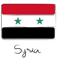 Syria flag doodle vector