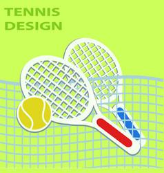 tennis sport design eps10 graphic vector image