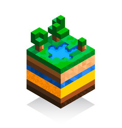 the structure of the earth in isometric style vector image