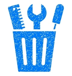 Tools Bucket Grainy Texture Icon vector image