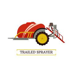 Trailed sprayer machinery vector